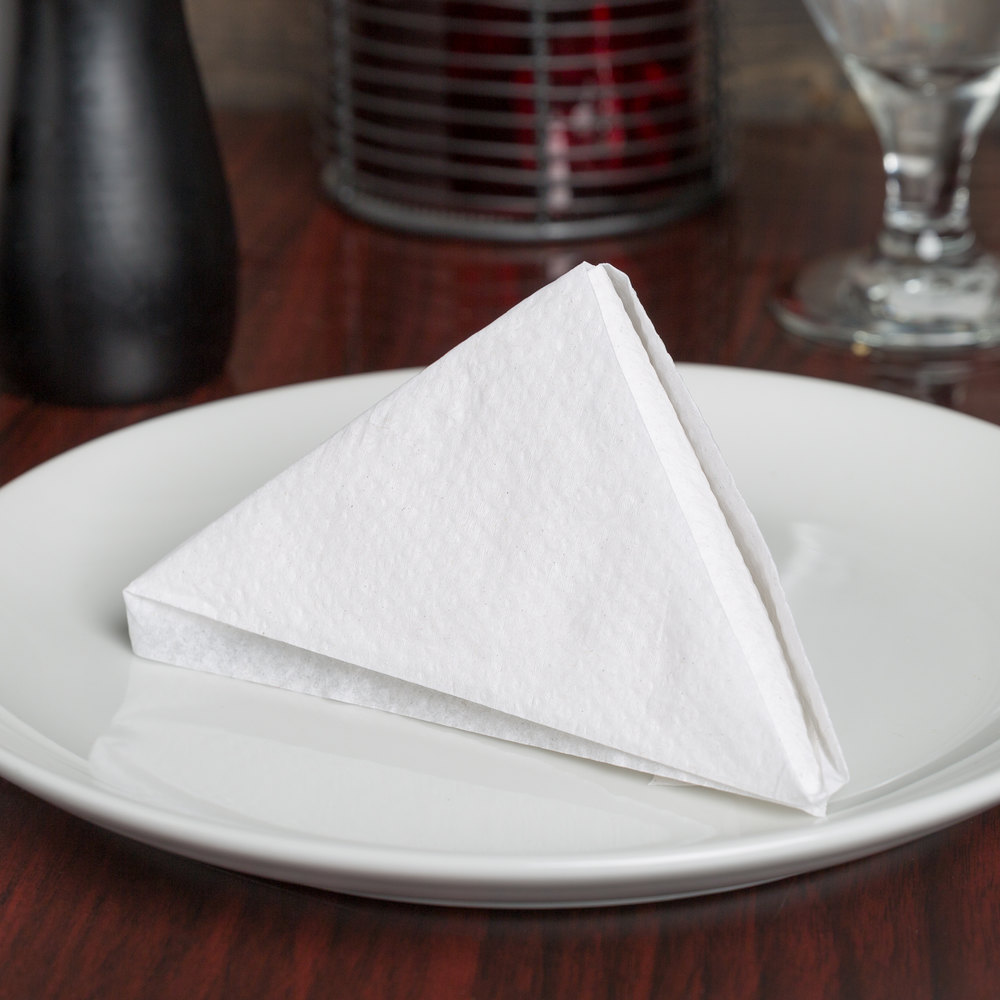 "11"" x 12 1/2"" White 1/4 Fold Luncheon Napkin - 6000/Case"