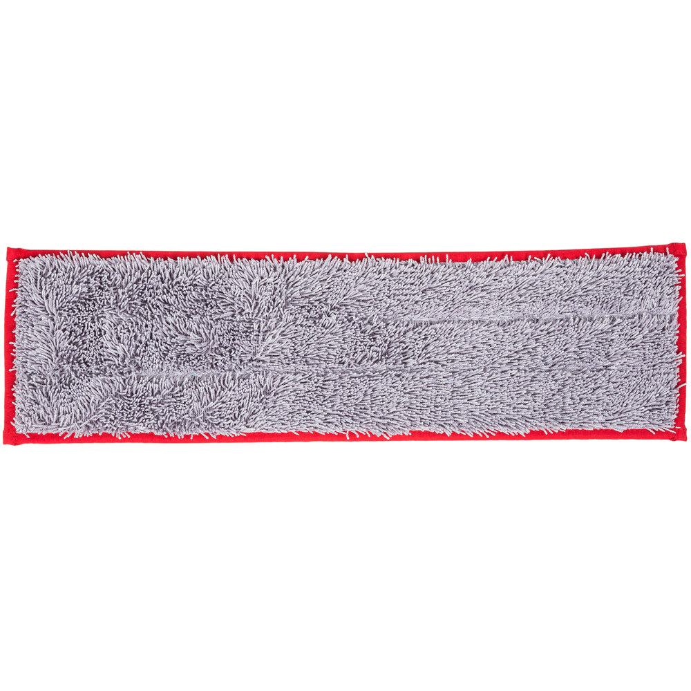 Unger DD40R SmartColor Red Dry / Damp 13.0 Mop Pad - 19 1/2""