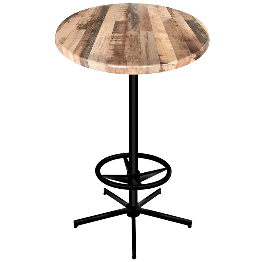 Holland bar stool od21642bwod30rrustic 30 round rustic wood laminate outdoor indoor bar Rustic outdoor bar stools