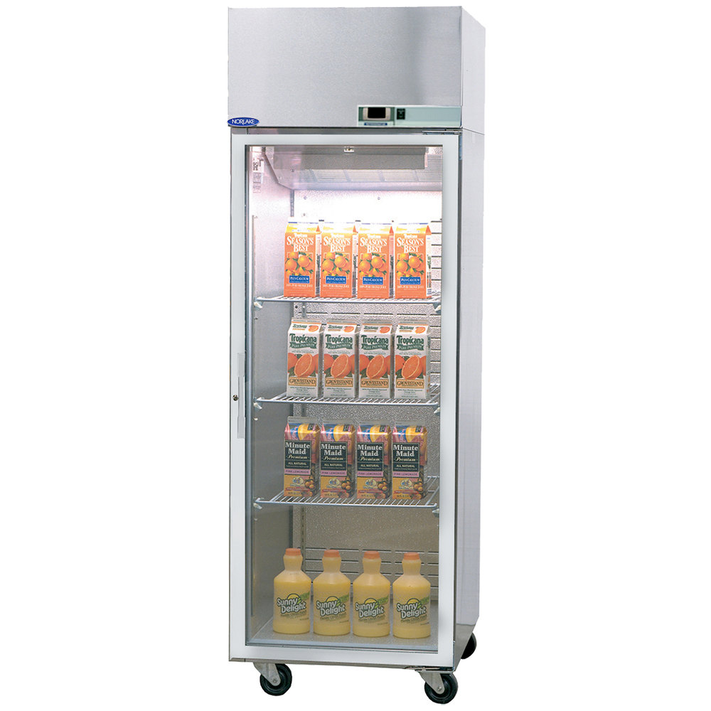 Nor lake pr242ssg 0x nova 27 1 2 glass door pass through for 1 glass door refrigerator