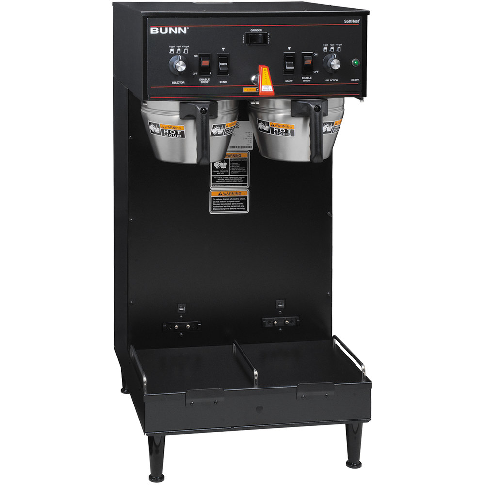 Bunn Coffee Maker Does Not Heat Water : Bunn 27900.0020 Black Dual Soft Heat Brewer - 120/208V, 5900W