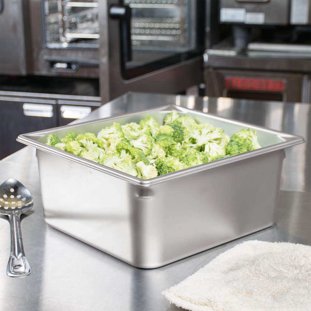 "Vollrath 90162 Super Pan 3® 2/3 Size Anti-Jam Stainless Steel Steam Table Pan - 6"" Deep"