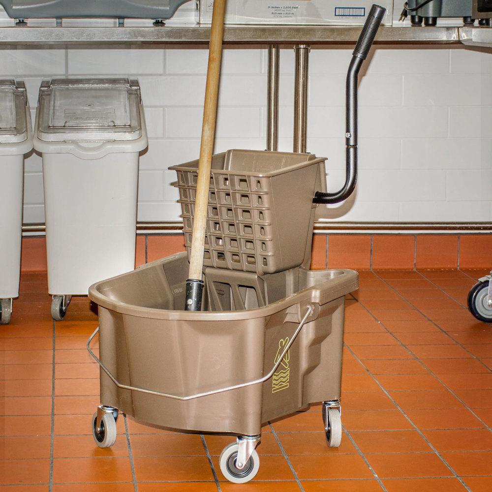Kitchen Splash Guard Continental 226 312bz 26 Qt Bronze Splash Guard Mop Bucket With