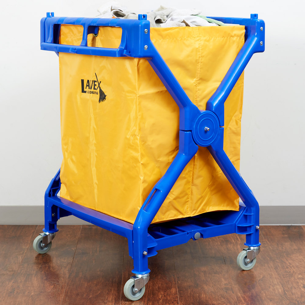 Lavex Lodging 10 Bushel Commercial Rolling Laundry Trash