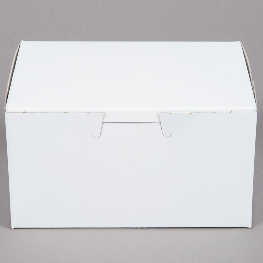 "2.5/"" High One Piece White Cake Box"
