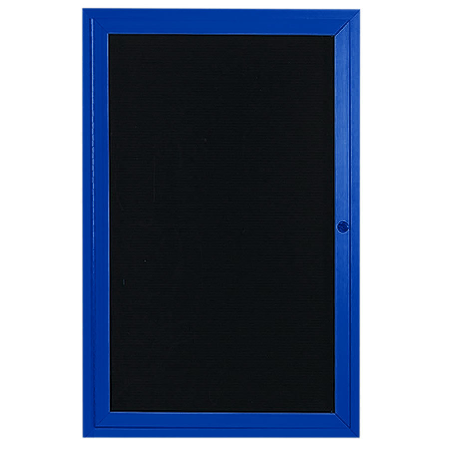 aarco adc3624ib 36quot x 24quot enclosed hinged locking 1 door With lighted letter board