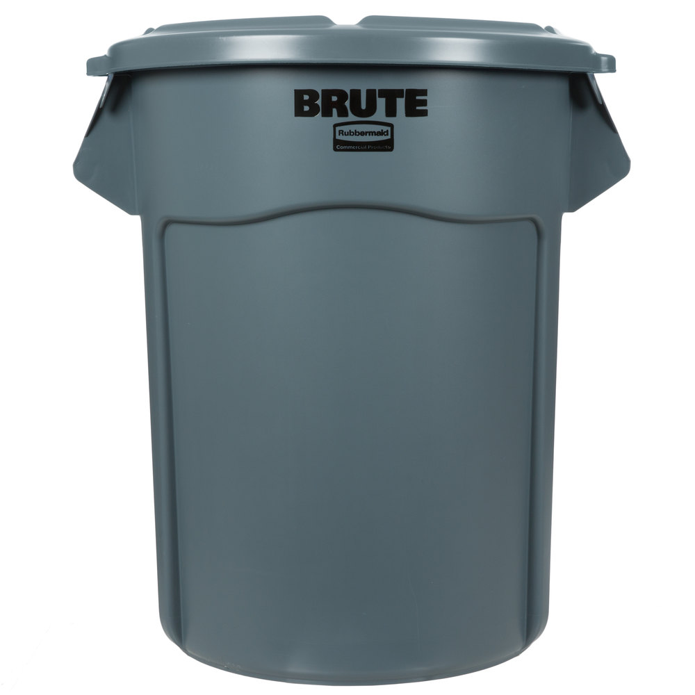 rubbermaid brute 55 gallon gray trash can and lid. Black Bedroom Furniture Sets. Home Design Ideas