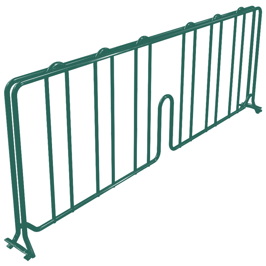 "Metro DD21-DHG 21"" Hunter Green Wire Shelf Divider"