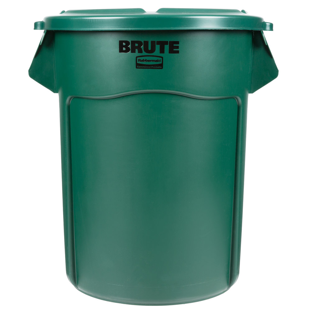 rubbermaid brute 55 gallon green trash can and lid. Black Bedroom Furniture Sets. Home Design Ideas