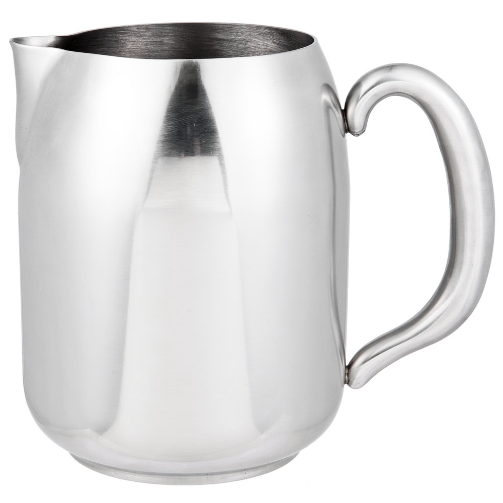 vollrath  orion  oz mirrorfinished stainless steel water  - mirrorfinished stainless steel water pitcher