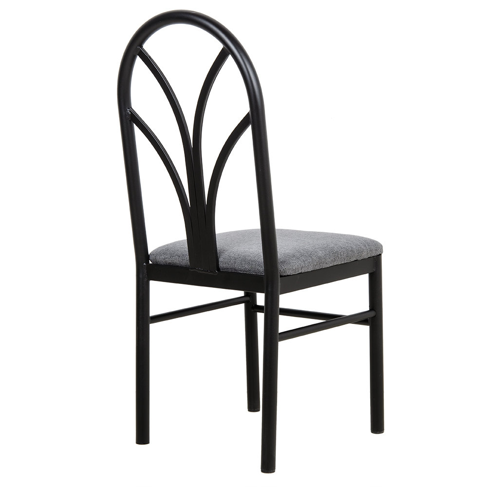 lancaster table seating gray 4 spoke restaurant dining room chair