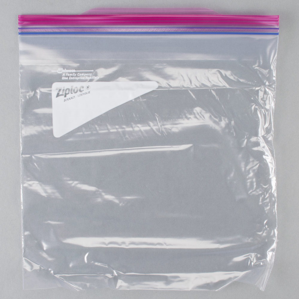 Diversey Ziploc 10 9 16 X 10 3 4 One Gallon Storage Bag With Double Zipper And Write On Label