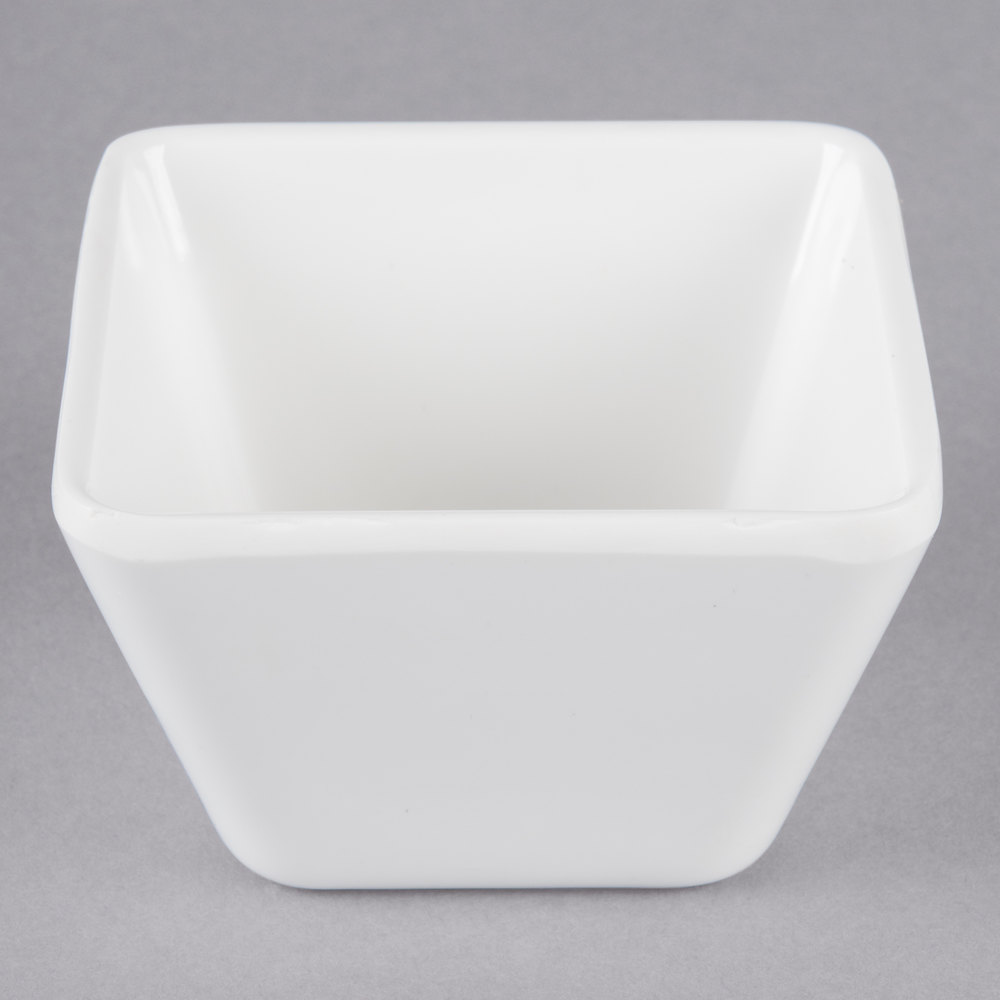Vollrath V22211 3 Oz White Extra Extra Small Square Melamine Bowl