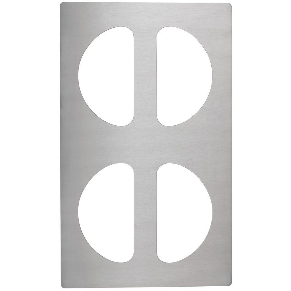 Vollrath 8241314 Miramar Stainless Steel Adapter Plate for Four Half Oval Pans