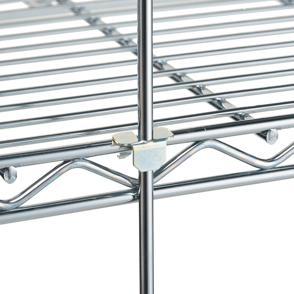 "Metro R84S 84"" Stainless Steel Wire Shelving Rod"