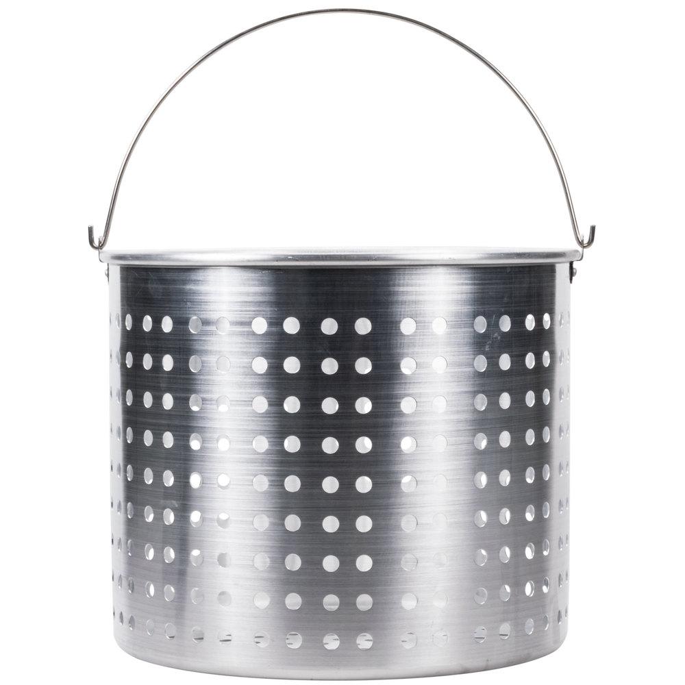 80 Qt Aluminum Stock Pot Steamer Basket