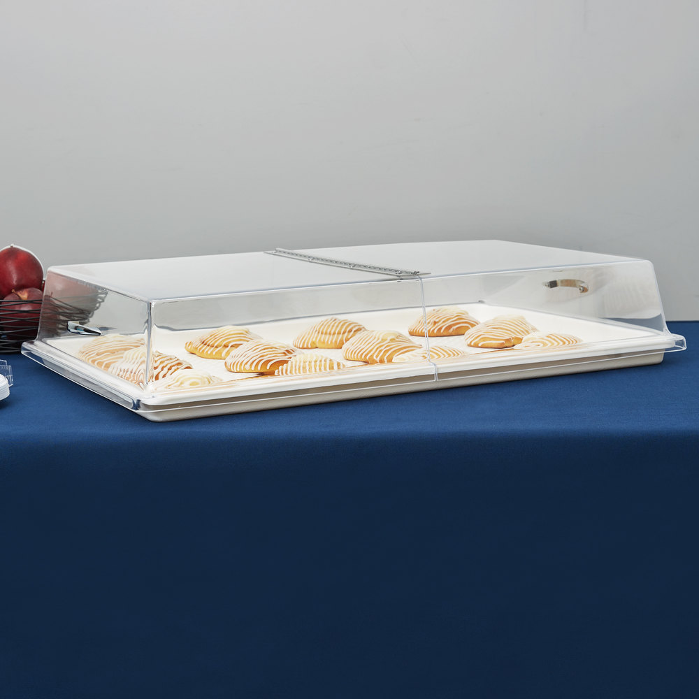 "Carlisle SC2607 18"" x 26"" x 4"" Rectangular Hinged Pastry Tray Cover"