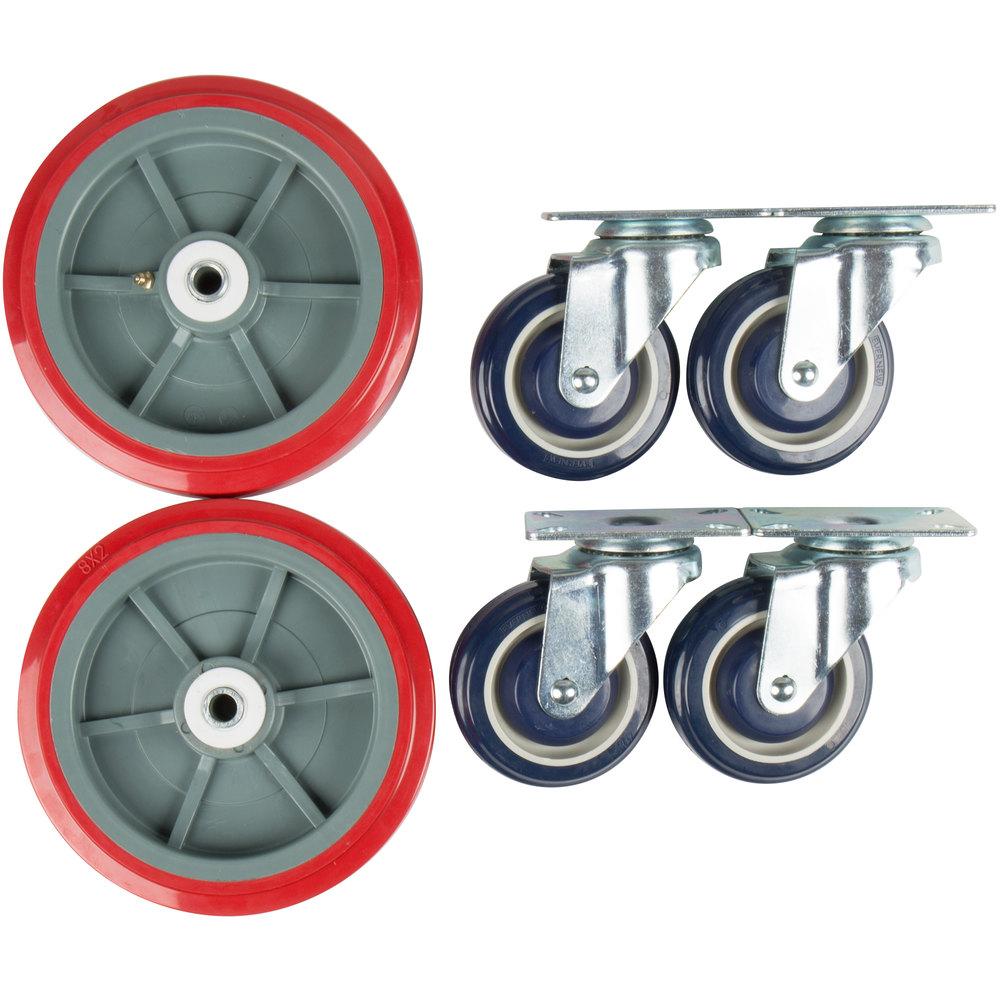 Regency 8 inch Wheel and 4 inch Caster Set