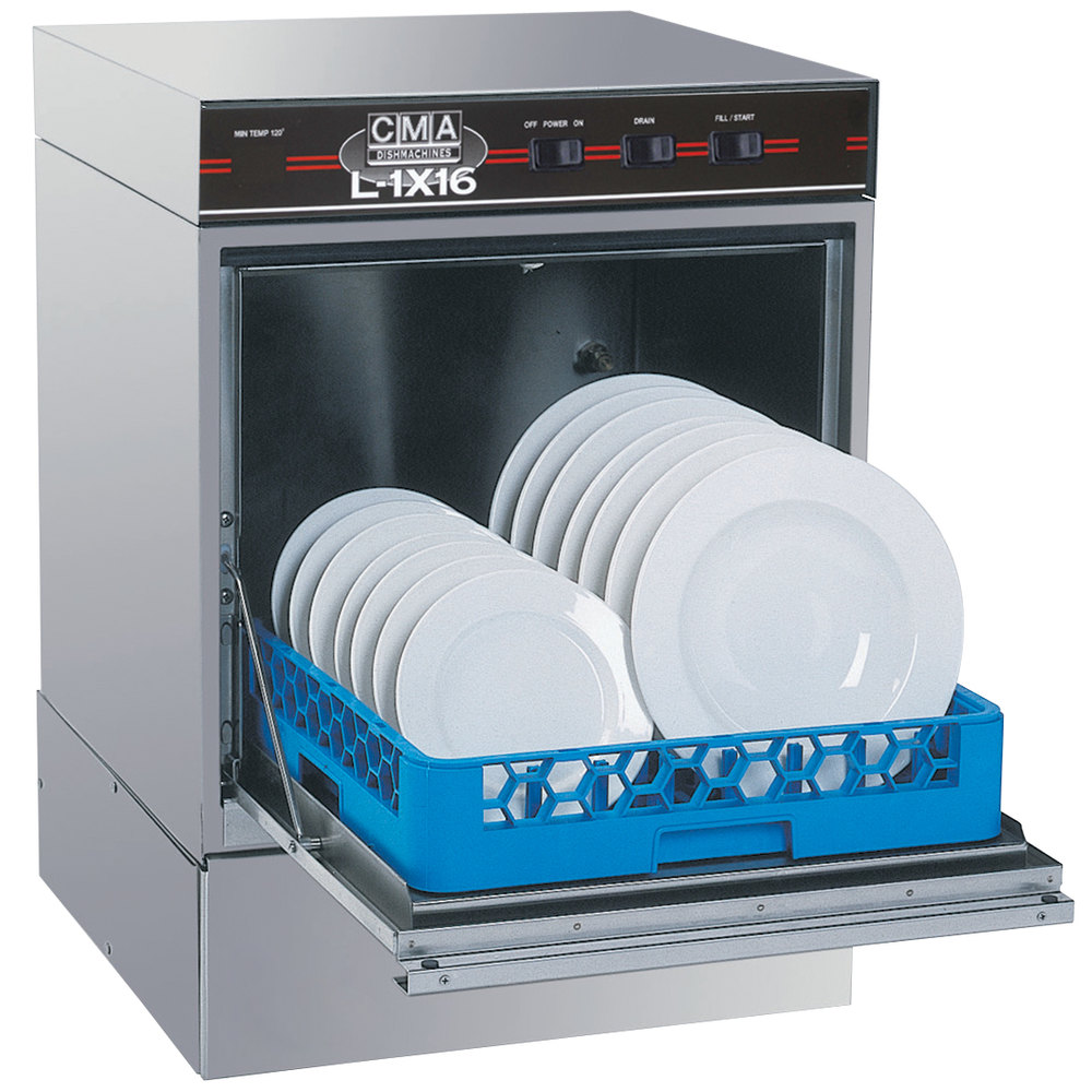 "CMA Dishmachines L-1X16 Undercounter Dishwasher Low Temperature 16"" Door Opening - No Heater"