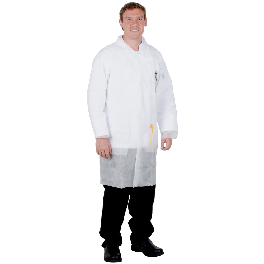 White apron for lab - White Disposable Polypropylene Lab Coat Small