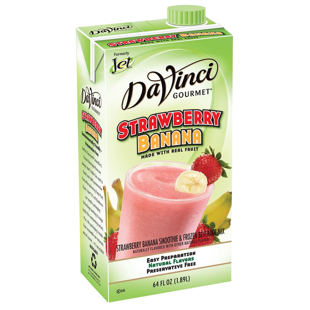 Davinci Gourmet Strawberry Banana Real Fruit Smoothie Mix