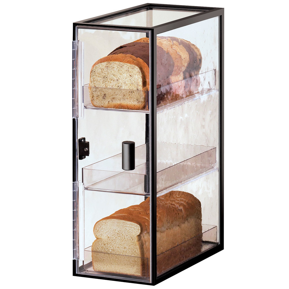 "Cal-Mil 1720-3 Iron Three Tier Bread Case - 7"" x 12 1/4"" x 19 1/2"""