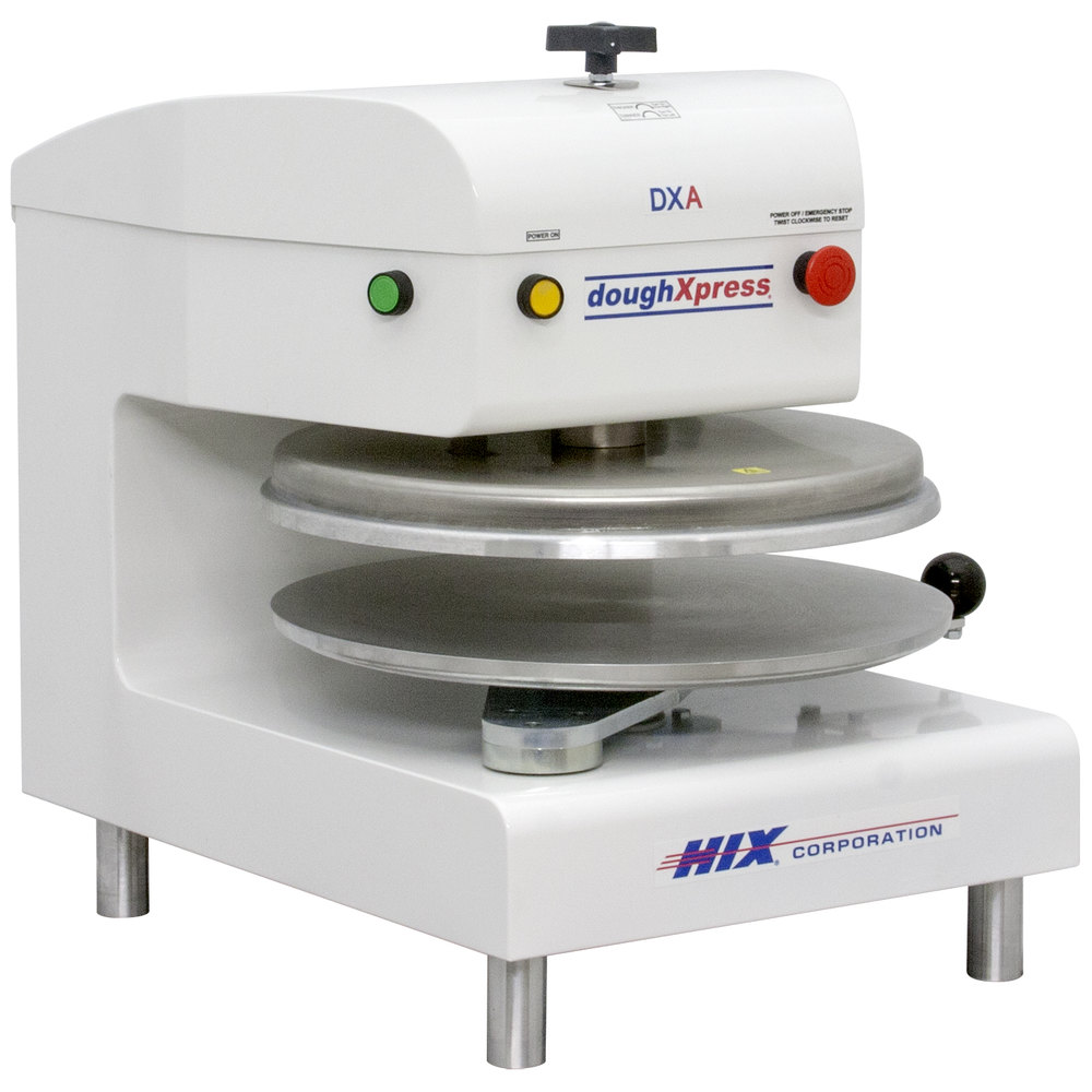 "DoughXpress DXA-WH Automatic Pizza Dough Press 18"" - White, Air Operated"