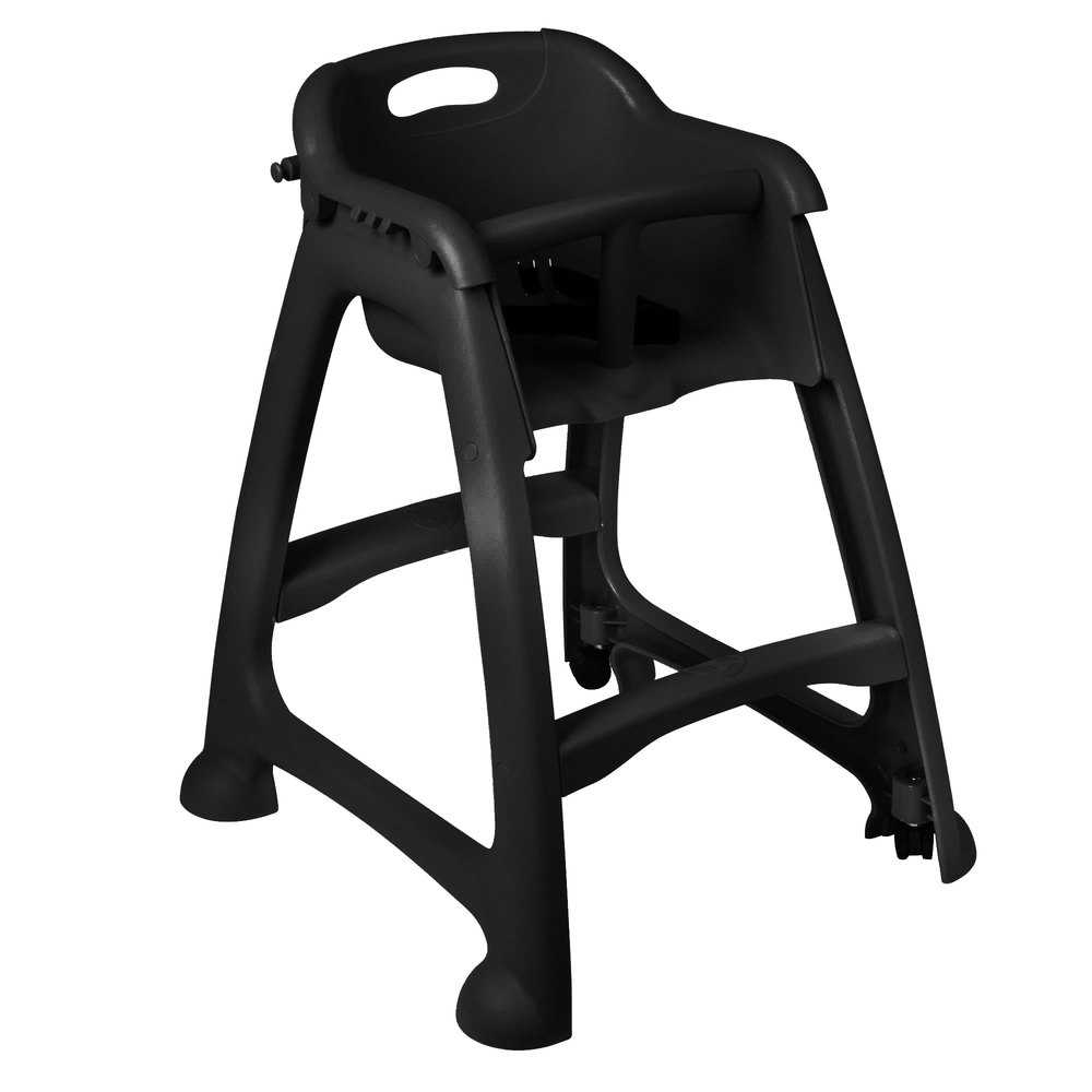 Main Picture ...  sc 1 st  Webstaurant Store & Lancaster Table u0026 Seating Black Stackable Restaurant High Chair ... islam-shia.org