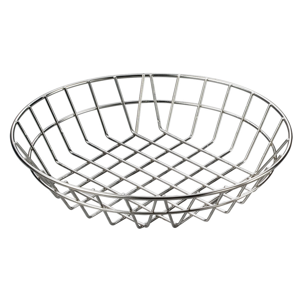 Metal Wire Baskets : American metalcraft wiss stainless steel round wire