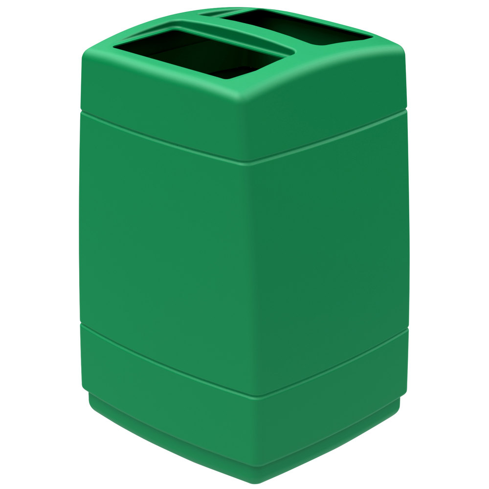 Commercial zone 732836 polytec 55 gallon green open top waste container - Garden waste containers ...