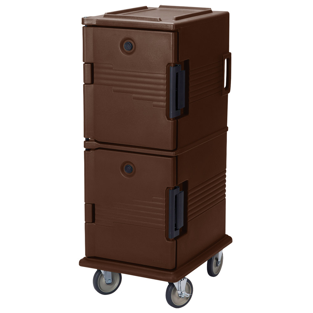 Cambro UPC800131 Dark Brown Camcart Ultra Pan Carrier - Front Load