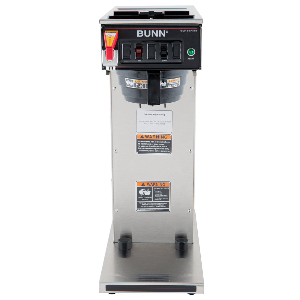 Bunn Cw Wiring Diagram Library Parts Catalog 230010058 Cwtf Aps Dv Airpot Brewer With Black Plastic Funnel Dual Voltage