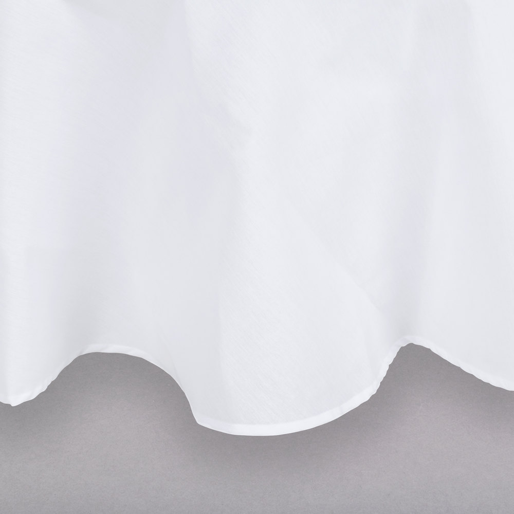 120 white round hemmed polyspun cloth table cover for 120 round table cover