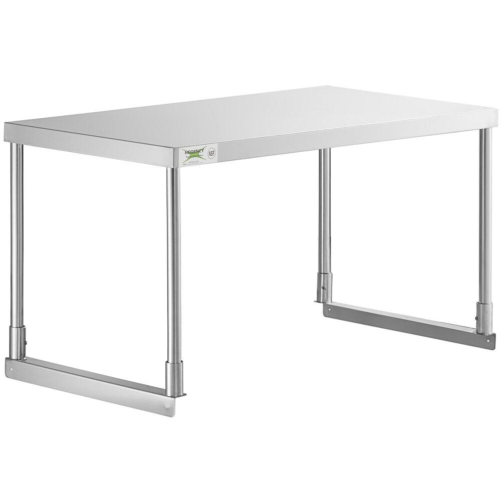 Regency Stainless Steel Single Deck Overshelf - 18 inch x 36 inch x 19 1/4 inch
