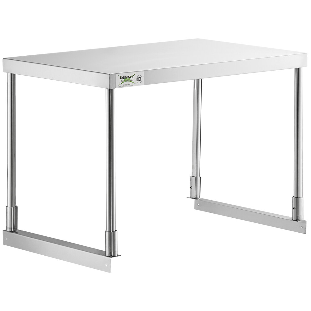 Regency Stainless Steel Single Deck Overshelf - 18 inch x 30 inch x 19 1/4 inch