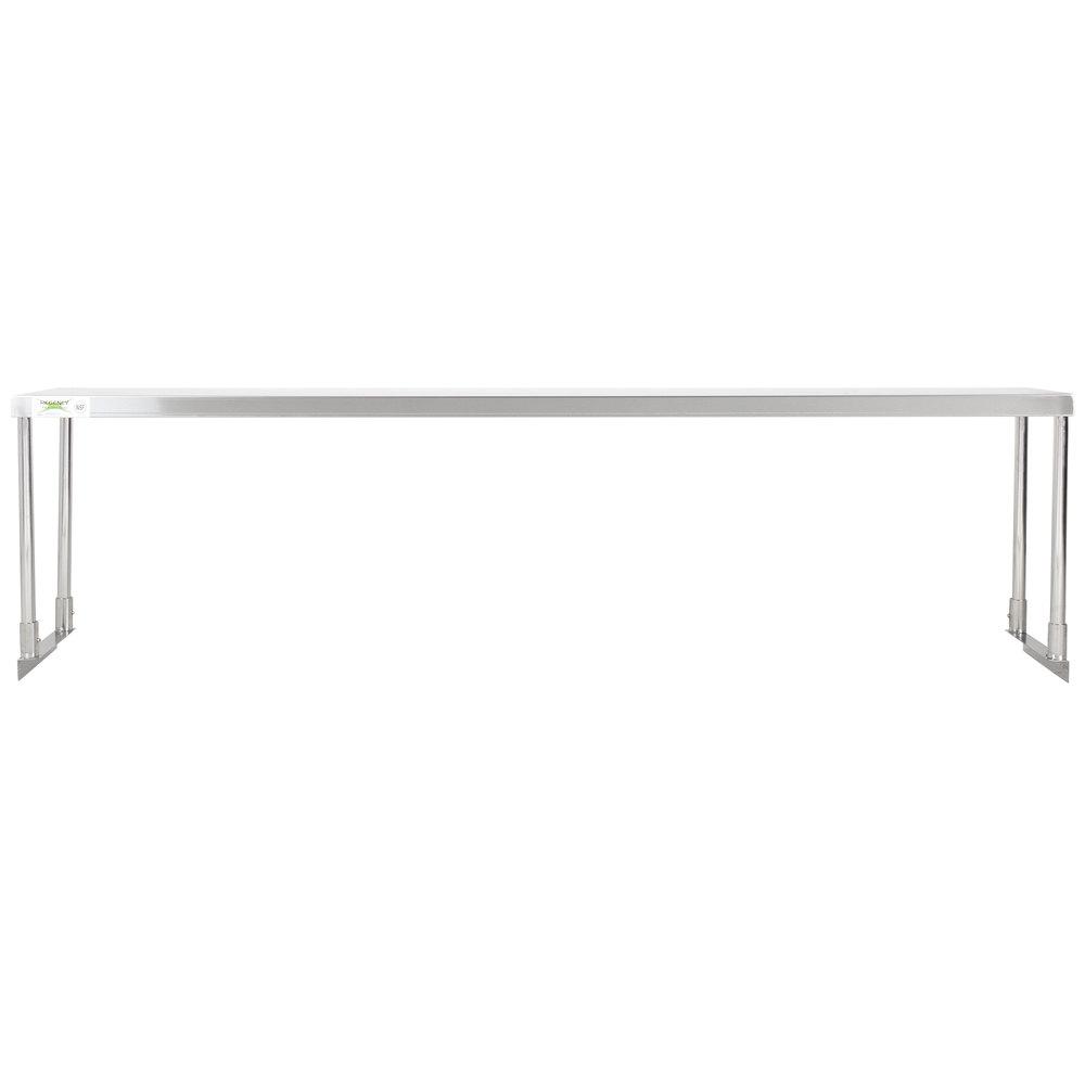 Regency Stainless Steel Single Deck Overshelf - 12 inch x 72 inch x 19 1/4 inch