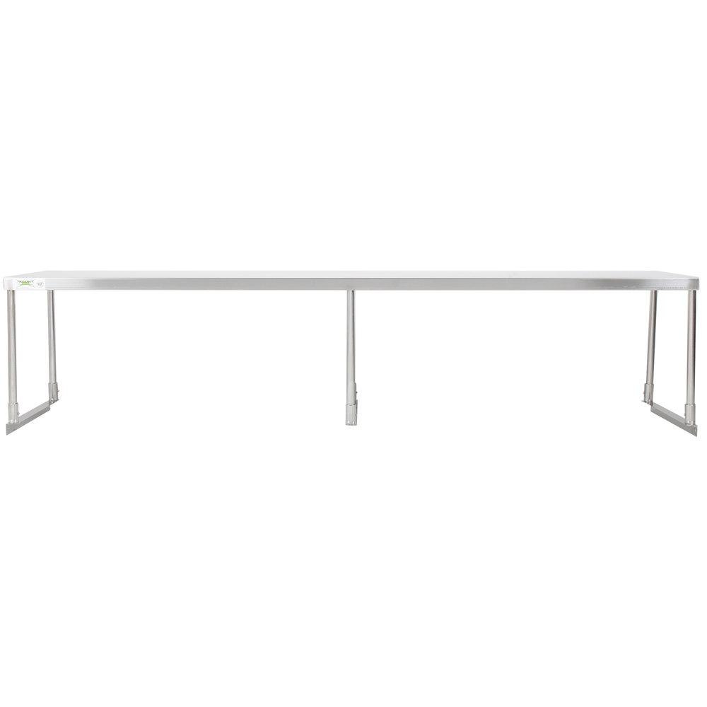 Regency Stainless Steel Single Deck Overshelf - 18 inch x 84 inch x 19 1/4 inch