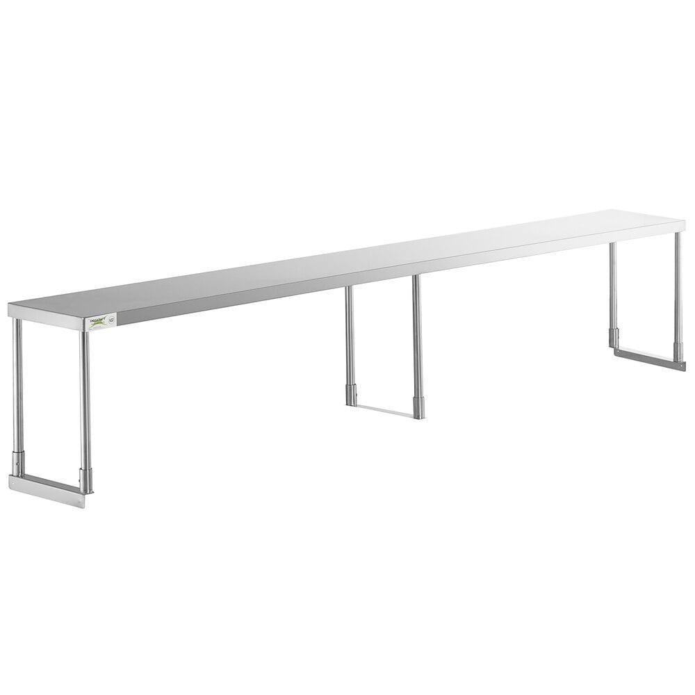 Regency Stainless Steel Single Deck Overshelf - 12 inch x 96 inch x 19 1/4 inch