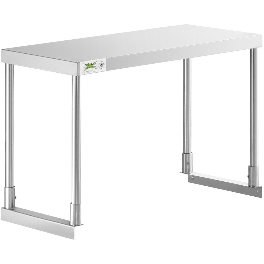 Regency Stainless Steel Single Deck Overshelf - 12 inch x 36 inch x 19 1/4 inch