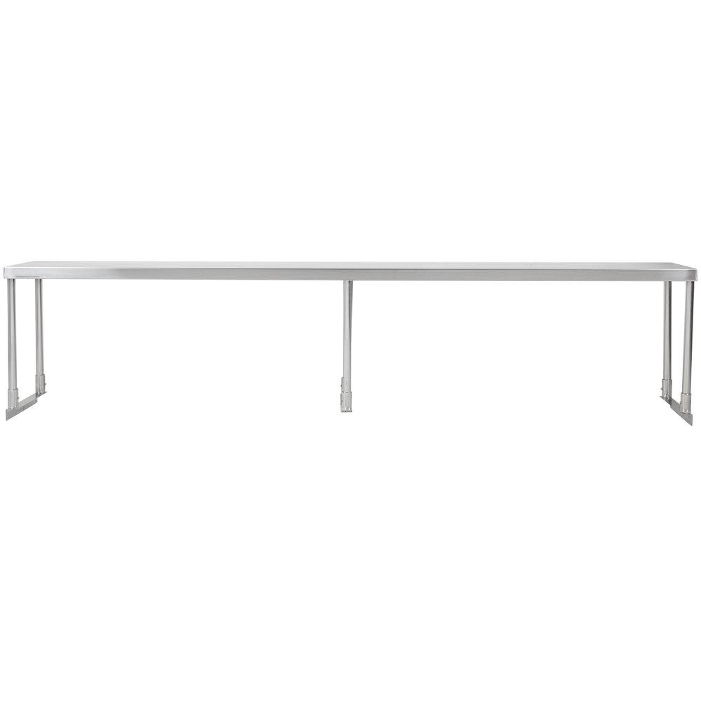 Regency Stainless Steel Single Deck Overshelf - 12 inch x 84 inch x 19 1/4 inch