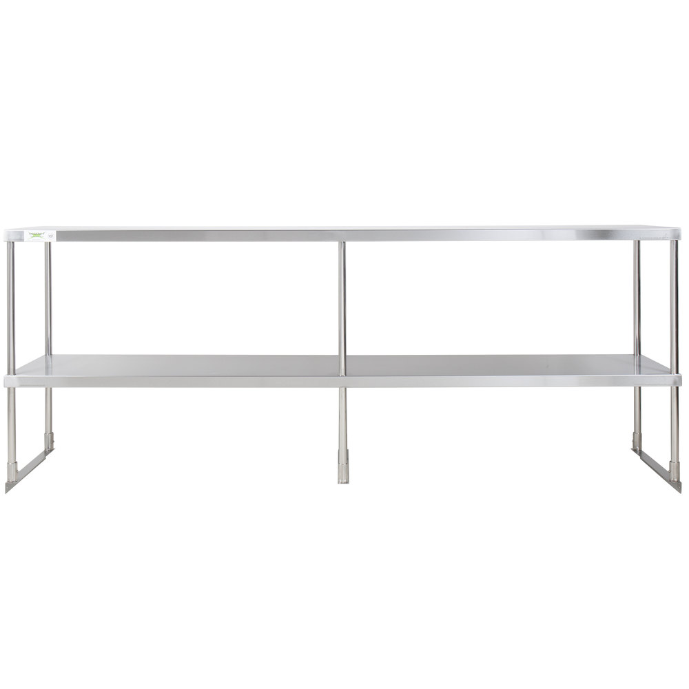 Regency Stainless Steel Double Deck Overshelf - 18 inch x 84 inch x 32 inch