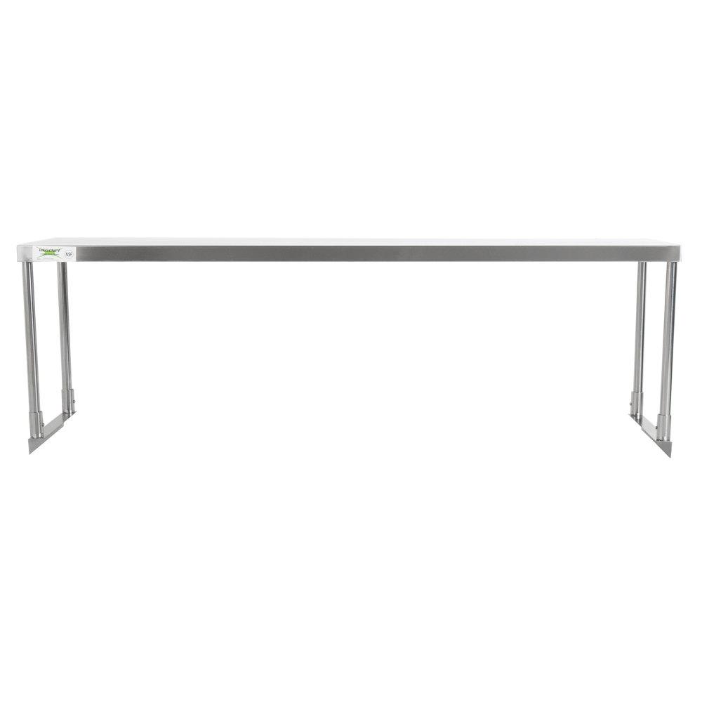 Regency Stainless Steel Single Deck Overshelf - 18 inch x 60 inch x 19 1/4 inch