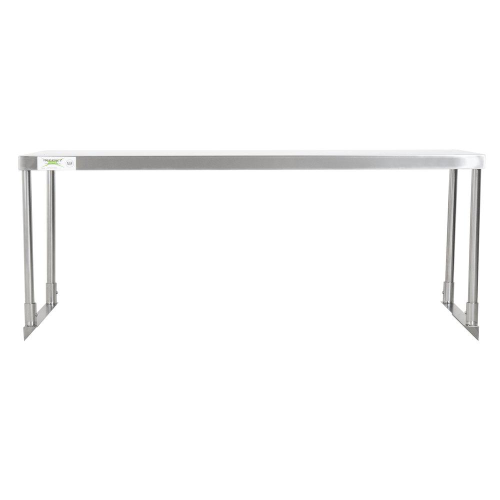 Regency Stainless Steel Single Deck Overshelf - 18 inch x 48 inch x 19 1/4 inch