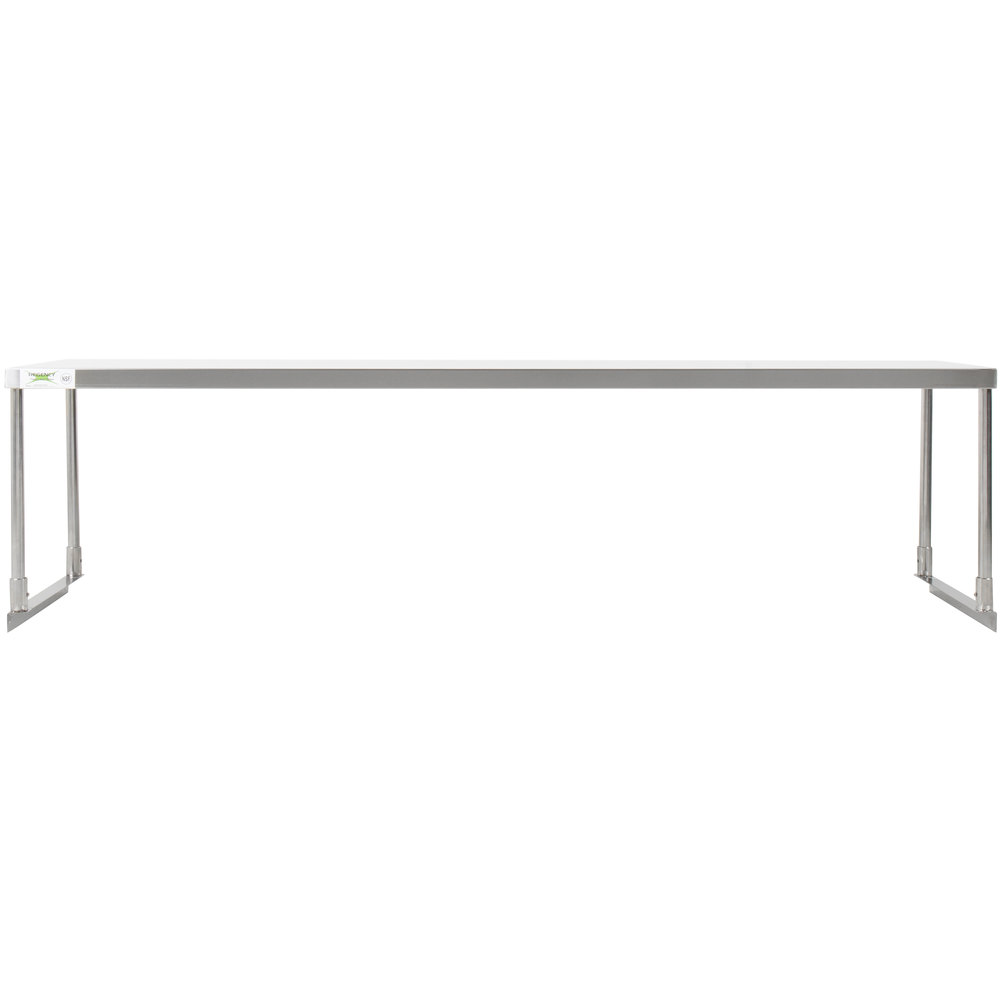 Regency Stainless Steel Single Deck Overshelf - 18 inch x 72 inch x 19 1/4 inch