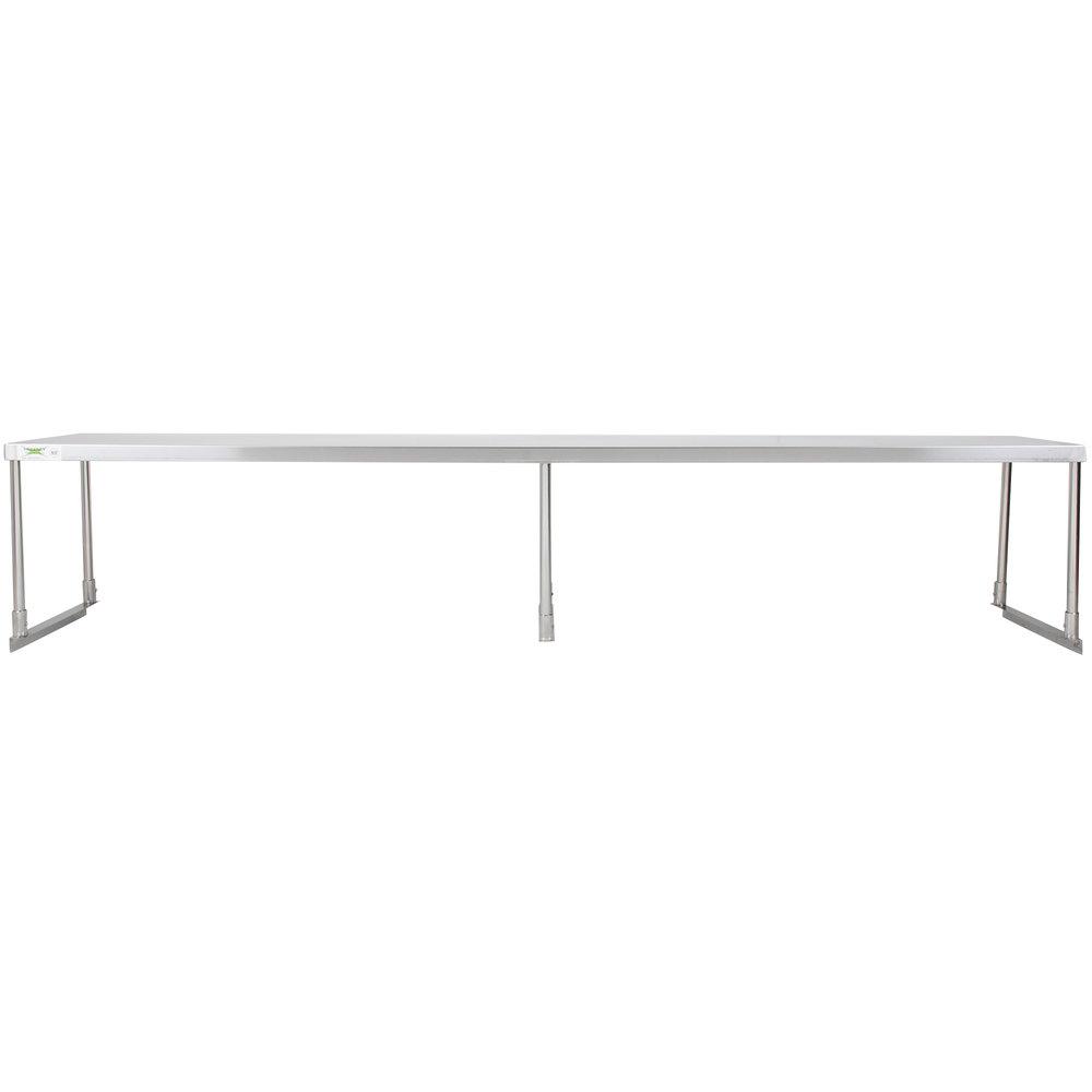 Regency Stainless Steel Single Deck Overshelf - 18 inch x 96 inch x 19 1/4 inch