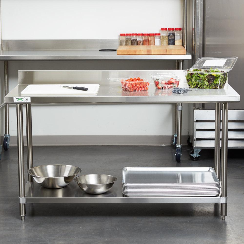 regency 24 x 60 16 gauge stainless steel commercial work. Black Bedroom Furniture Sets. Home Design Ideas