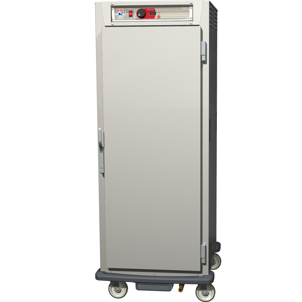 Metro C589-SFS-UPFC C5 8 Series Reach-In Pass-Through Heated Holding Cabinet - Solid / Clear Full Doors