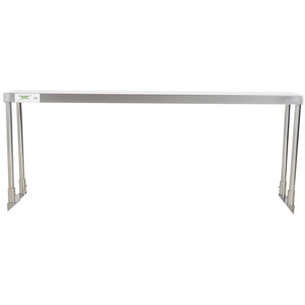 Regency Stainless Steel Single Deck Overshelf - 12 inch x 48 inch x 19 1/4 inch