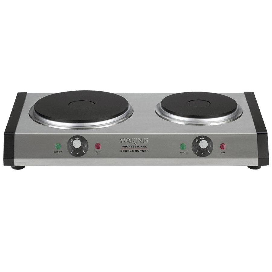 Waring Wdb600 Double Burner Solid Top Countertop Range 1800w