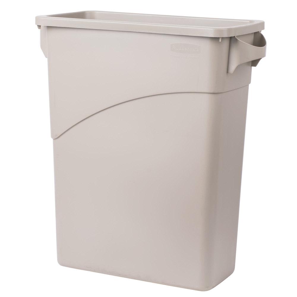 rubbermaid fg354100beig beige 15 8 gallon slim jim wall